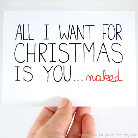 all i want for christmas is you naked card 295
