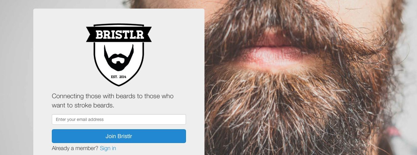 Bristlr, dating for beard fans i App Store