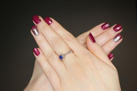Finger, Skin, Nail, Red, Nail care, Magenta, Pink, Nail polish, Manicure, Fashion accessory,