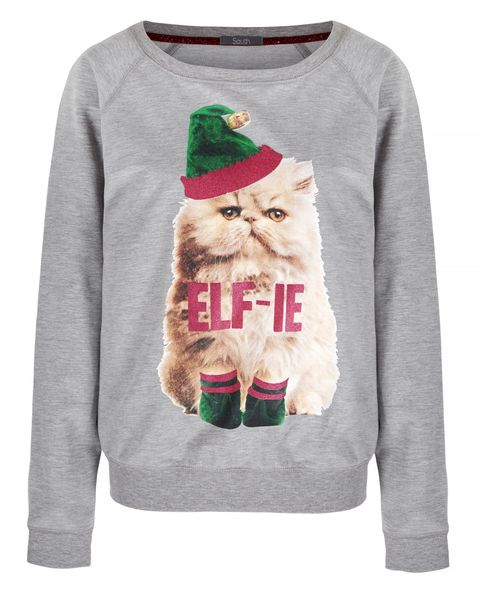 Sleeve, Textile, Santa claus, Fictional character, Facial hair, Costume accessory, Sweater, Wool, Sweatshirt, Christmas,