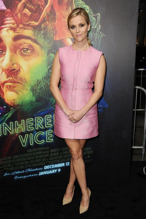 Reese Witherspoon Has A Legally Blonde Moment At Inherent Vice Premiere