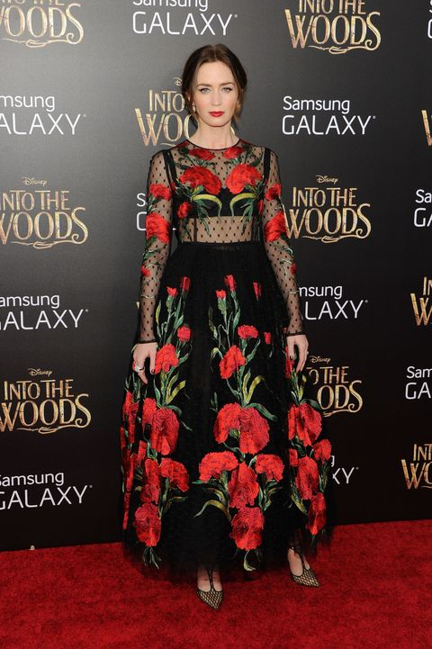 Emily Blunt's floral dress at Into The Woods premiere