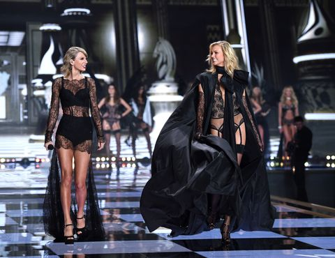 8ab82b6a866c Ariana Grande and Taylor Swift perform like angels at the Victoria s Secret  Fashion Show