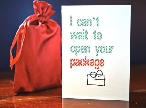 cant wait to open your package christmas card 263