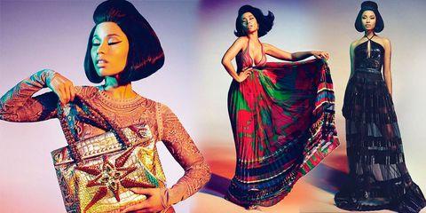 Nicki Minaj modelling for Roberto Cavalli