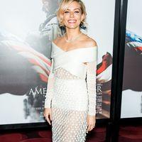 Sienna Miller in white at the Amerian Sniper premiere