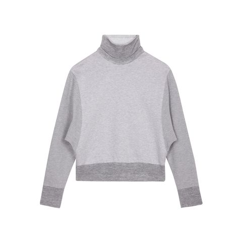 Product, Sleeve, Textile, Outerwear, Collar, White, Sweater, Fashion, Grey, Pattern,