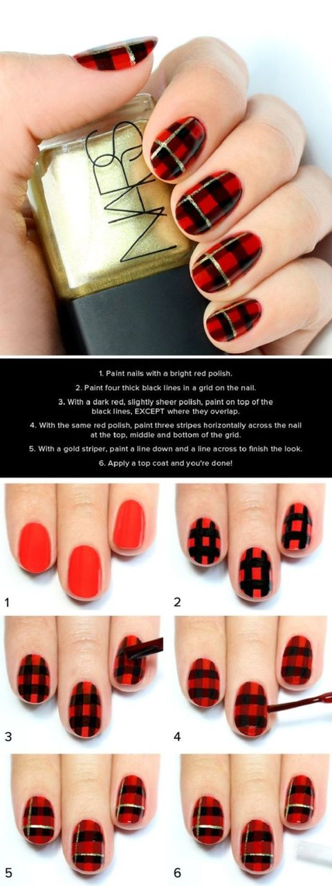 Christmas nails - 14 easy festive nail art designs for 2017