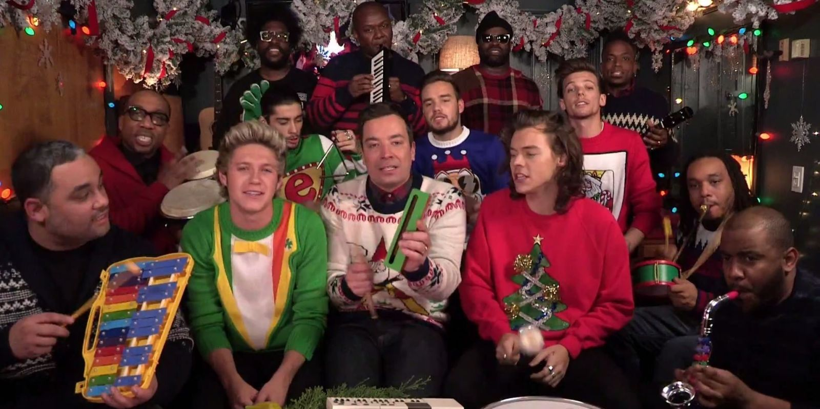 Direction sing Christmas songs with Jimmy Fallon and a bunch of ...