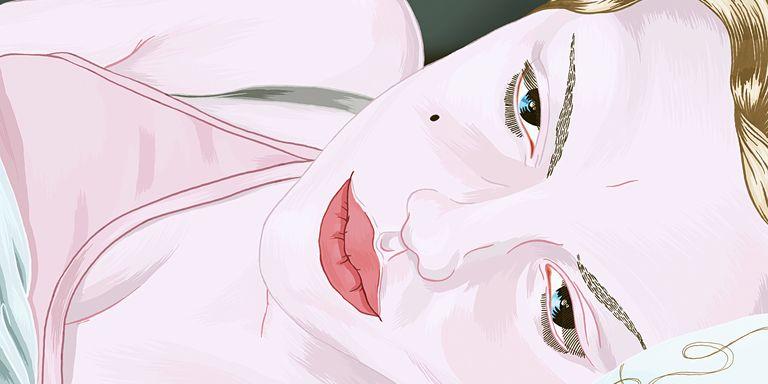 Illustration of sad woman