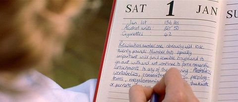 Bridget Jones' New Years Resolutions