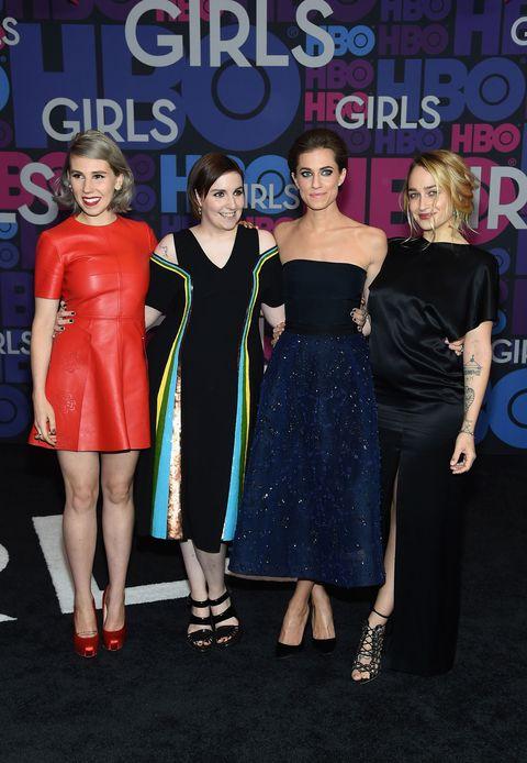 Girls Season 4 premiere - Lena Dunham, Allison Williams, Zosia Mamet, Jemima Kirke