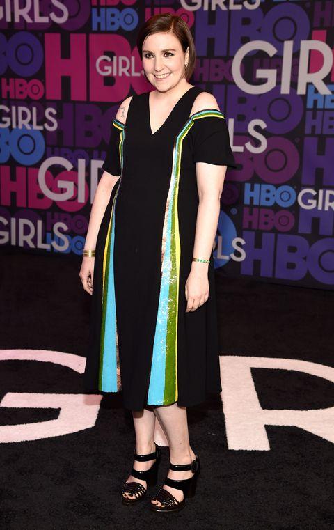 Lena Dunham at the Girls season 4 premiere