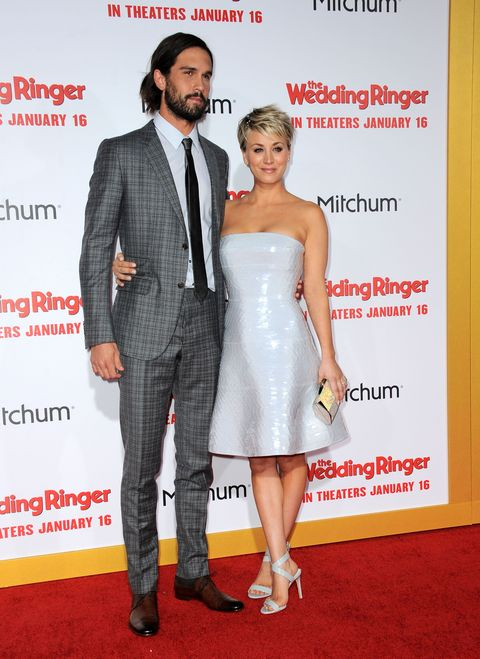 Kaley Cuoco-Sweeting and husband Ryan Sweeting at the Wedding Ringer premiere