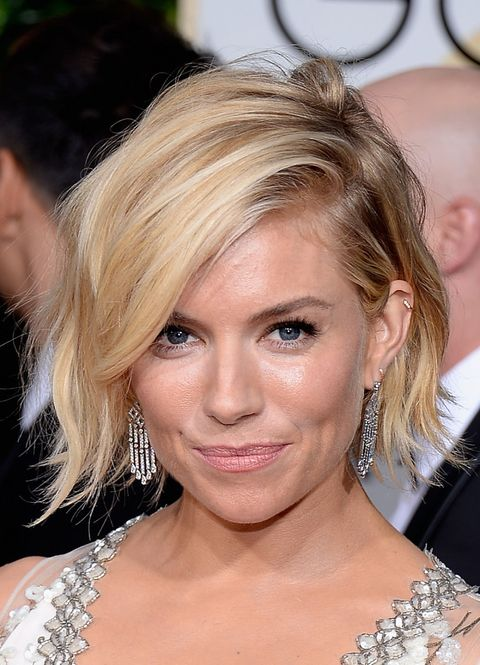 Sienna Miller Golden Globes 2015 beauty looks