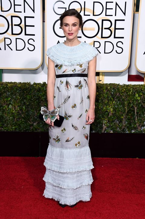 892c4c3e749 2015 Golden Globes  Keira Knightley dresses her baby bump in Chanel