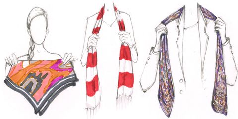 How to tie your scarf like a celebrity how to tie a scarf ccuart Images