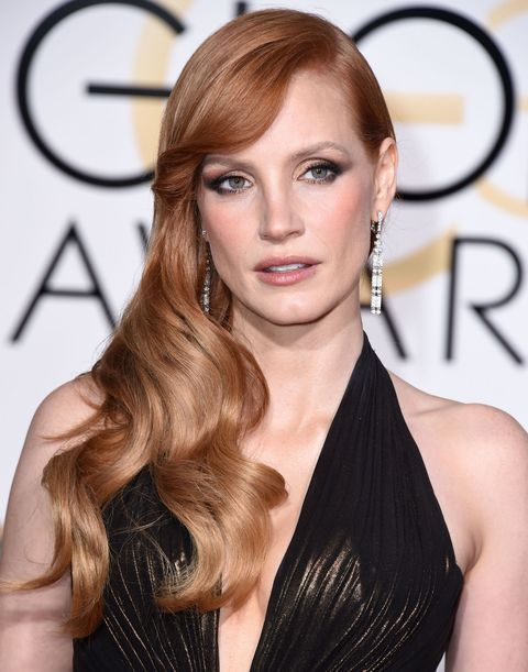 Jessica Chastain - Golden Globes 2015 beauty looks