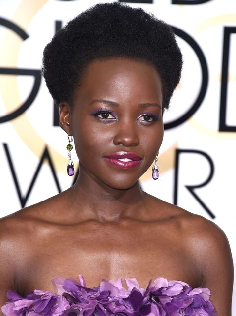 Lupita Nyong'o - Golden Globes 2015 beauty looks