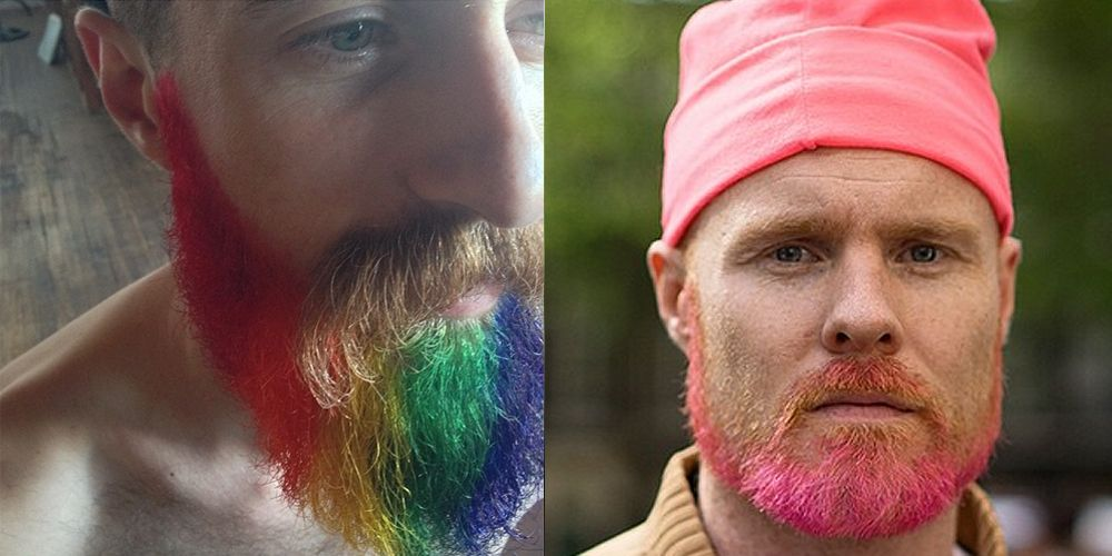 Men with dyed beards