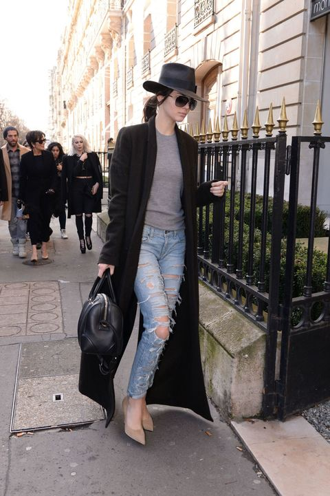 Kendall Jenner looks chic in Paris