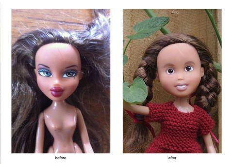 Bratz dolls makeunder project by Tree Change Dolls