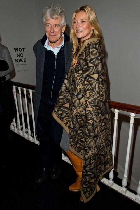 Kate Moss wearing a Boho cape