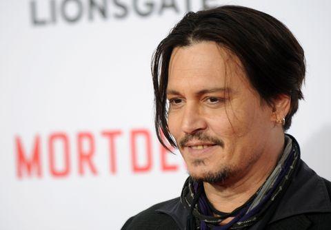 Johnny Depp at the Mortdecai premiere