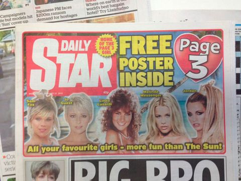 Daily Star continues Page 3 because it's a 'British tradition'