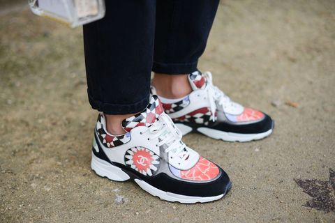 Chanel trainers at Paris Haute Couture Fashion Week SS15