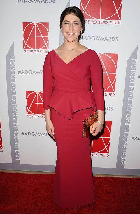 Shoulder, Dress, Red, Formal wear, Style, Flooring, Fashion, Maroon, Waist, Logo,