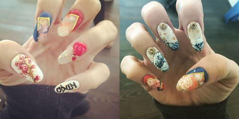 Lily Allen's Japanese nail art - 103 Celebrity Nail Art Designs To Give You ALL The Inspo...