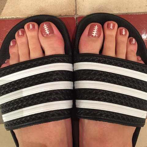 Katy Perry's Superbowl pedicure
