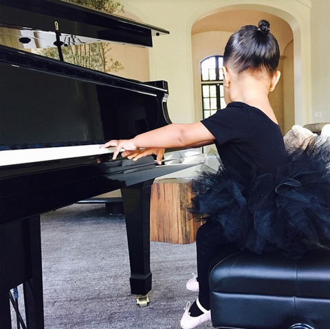 Kim Kardashian's photos of North West at ballet class are TOO cute