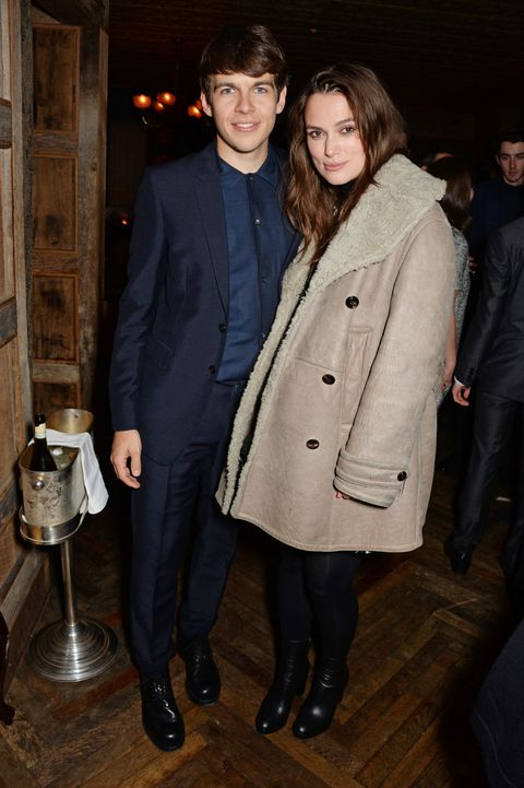 Keira Knightley and James Righton at the pre-BAFTAS party