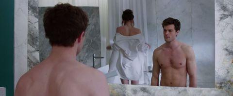 Fifty Shades of Grey naked bathroom scene