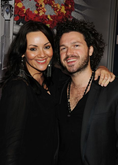 Martine McCutcheon has welcomed a baby boy into the world
