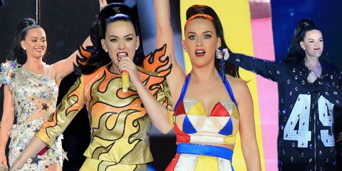 Katy Perry wears four outfits during her Superbowl halftime show 2015