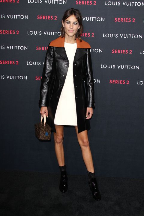 Alexa Chung makes us wish we owned a leather coat