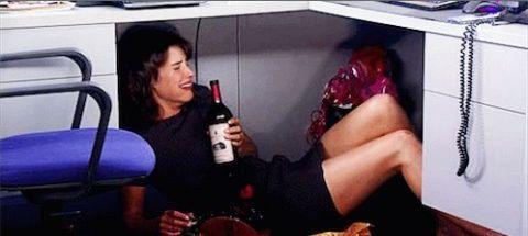 hate job drunk under desk