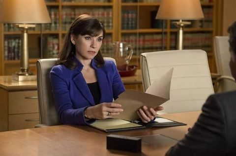 Job interview scene from The Good Wife