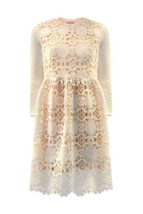 Brown, Textile, Dress, Pattern, One-piece garment, Day dress, Beige, Peach, Pattern, Fashion design,