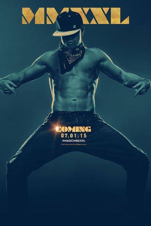 Channing Tatum in Magic Mike XXL poster