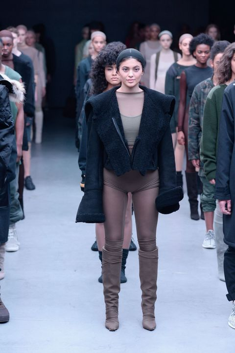 Kylie Jenner was one of the models at Kanye West's adidas show