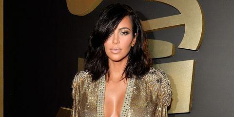 Photos of Kim Kardashian at the 2015 Grammy Awards
