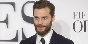 Jamie Dornan on the red carpet of the London Fifty Shades of Grey premiere