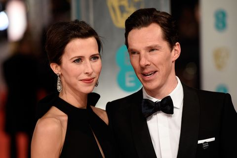 Benedict Cumberbatch and Sophie Hunter on the BAFTAs red carpet