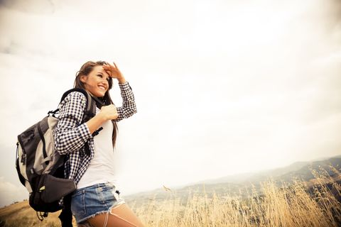 young girl woman travelling backpacker backpacking gap year