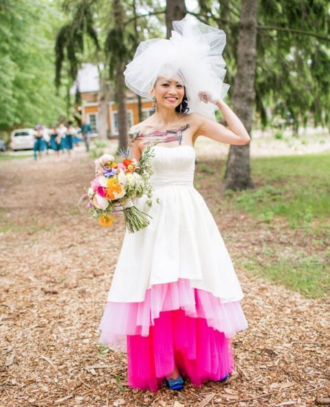 Mon-traditional wedding dress ideas for ballsy brides
