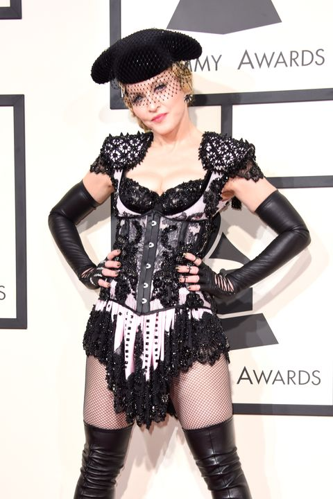 Madonna on the red carpet of the 2015 Grammy Awards